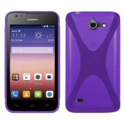 Funda Gel Tpu Huawei Ascend Y550 X Line Color Morada