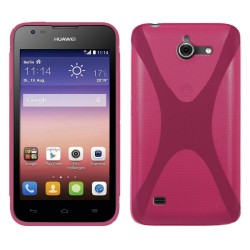 Funda Gel Tpu Huawei Ascend Y550 X Line Color Rosa