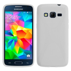 Funda Gel Tpu Samsung Galaxy Core Prime G360F X Line Color Blanca