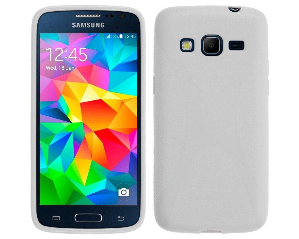 Funda Gel Tpu Samsung Galaxy Core Prime G360F X Line Color Blanca