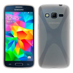 Funda Gel Tpu Samsung Galaxy Core Prime G360F X Line Color Transparente