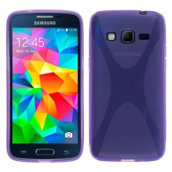 Funda Gel Tpu Samsung Galaxy Core Prime G360F X Line Color Morada