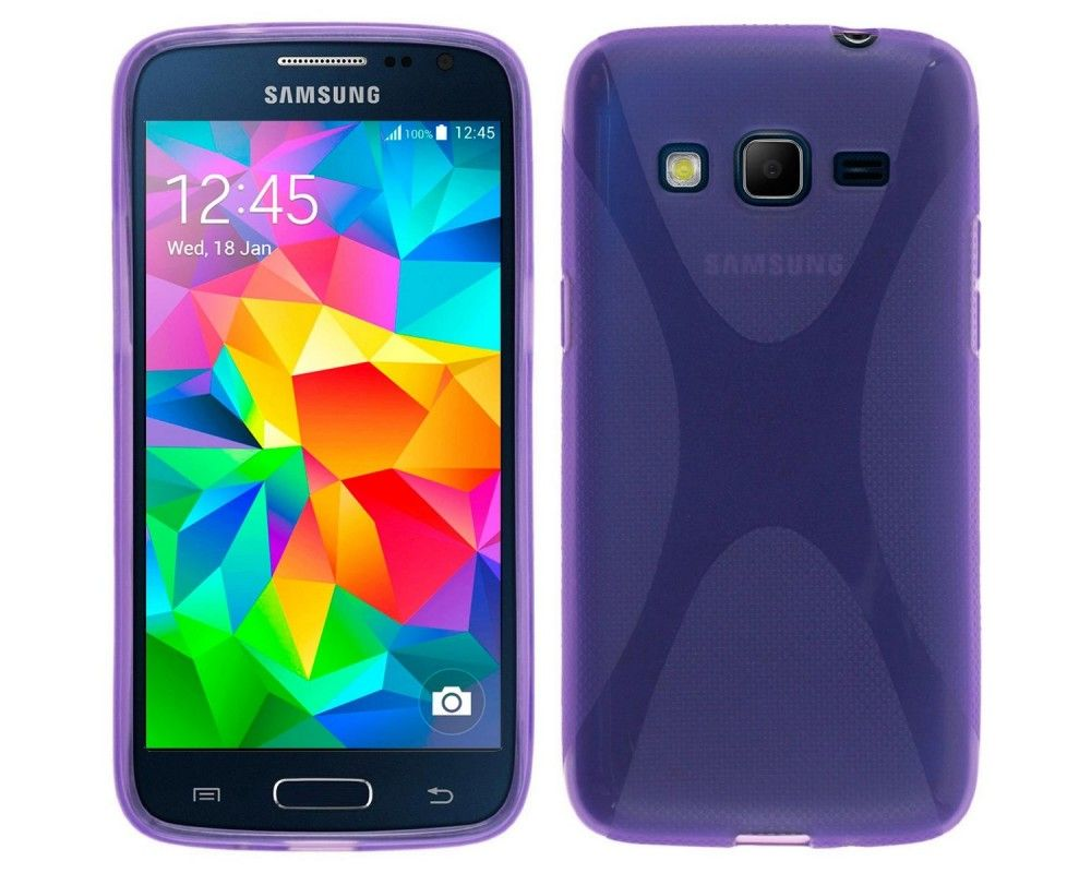 Funda Gel Tpu Samsung Galaxy Core Prime G360F X Line Color Morada