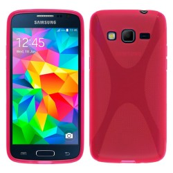 Funda Gel Tpu Samsung Galaxy Core Prime G360F X Line Color Rosa