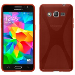 Funda Gel Tpu Samsung Galaxy Grand Prime G530F X Line Color Roja