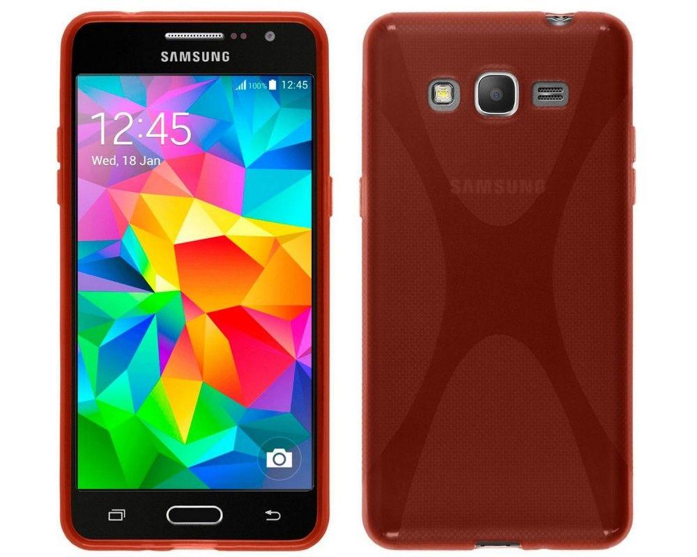 Funda Gel Tpu Samsung Galaxy Grand Prime G530F X Line Color Roja