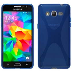 Funda Gel Tpu Samsung Galaxy Grand Prime G530F X Line Color Azul