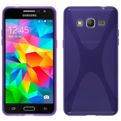 Funda Gel Tpu Samsung Galaxy Grand Prime G530F X Line Color Morada