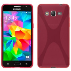Funda Gel Tpu Samsung Galaxy Grand Prime G530F X Line Color Rosa