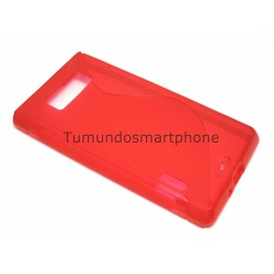 Funda Gel Tpu Lg Optimus L7 P700 / P705 S Line Color Roja