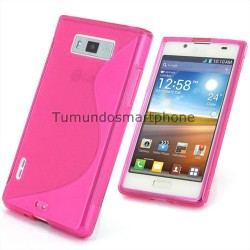 Funda Gel Tpu Lg Optimus L7 P700 / P705 S Line Color Rosa
