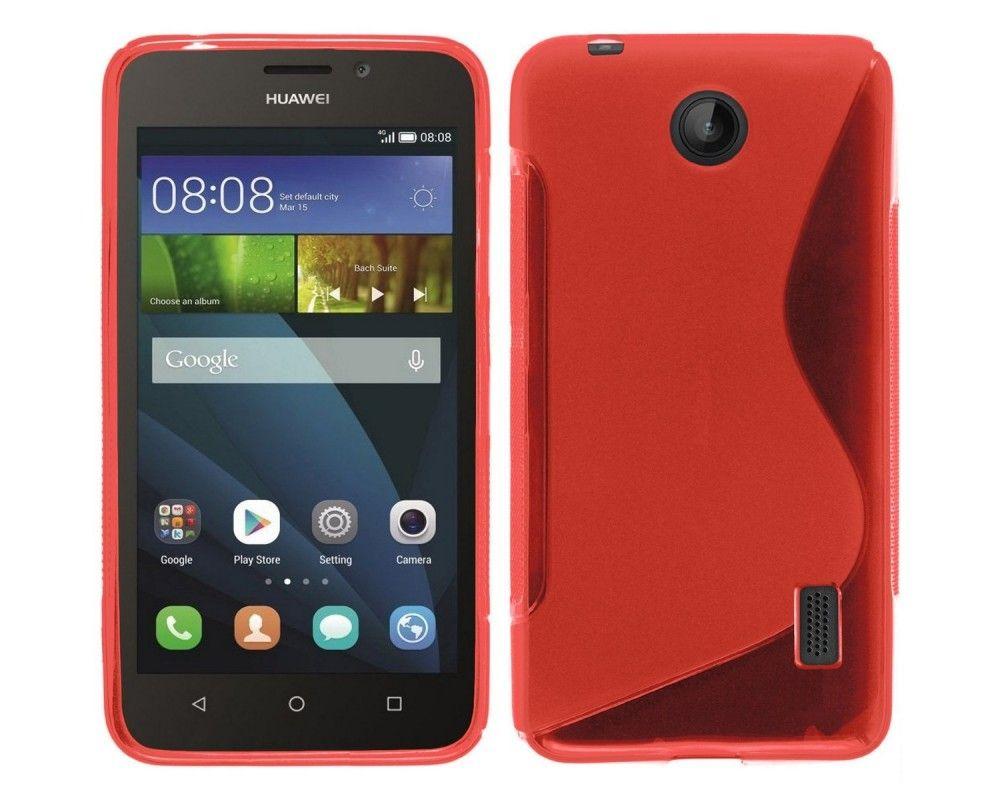 Funda Gel Tpu Huawei Ascend Y635 S Line Color Roja