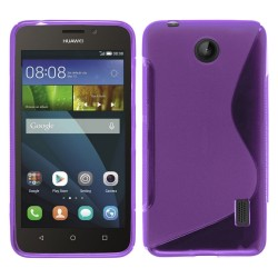 Funda Gel Tpu Huawei Ascend Y635 S Line Color Morada