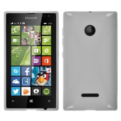 Funda Gel Tpu Microsoft Lumia 435 X Line Color Blanca