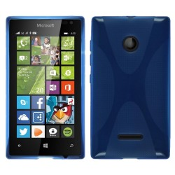 Funda Gel Tpu Microsoft Lumia 435 X Line Color Azul