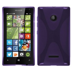 Funda Gel Tpu Microsoft Lumia 435 X Line Color Morada
