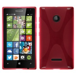 Funda Gel Tpu Microsoft Lumia 435 X Line Color Rosa