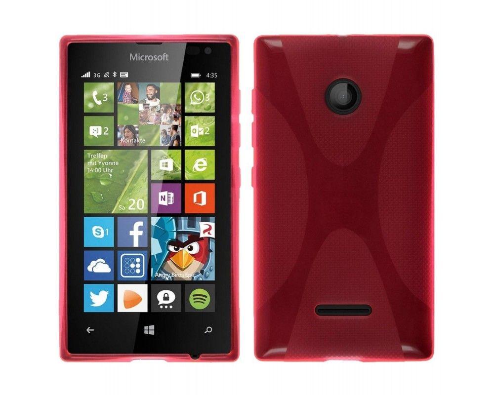 Funda Gel Tpu Microsoft Lumia 435 X Line Color Rosa