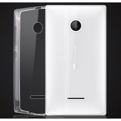 Funda Gel Tpu Fina Ultra-Thin 0,3mm Transparente para Microsoft Lumia 435