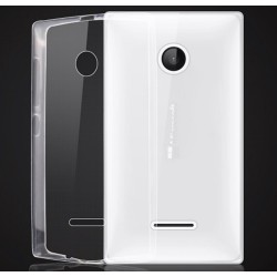Funda Gel Tpu Fina Ultra-Thin 0,3mm Transparente para Microsoft Lumia 435