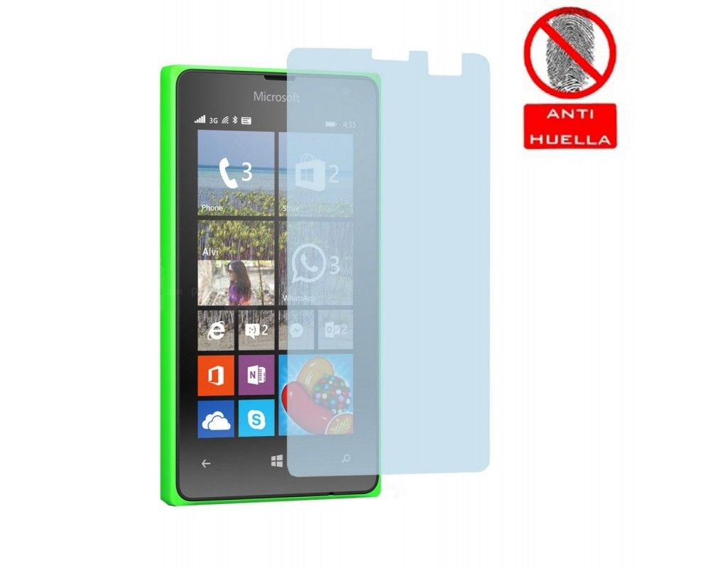 3x Protector Pantalla Mate Antihuellas (Anti-Glare) para Microsoft Lumia 435