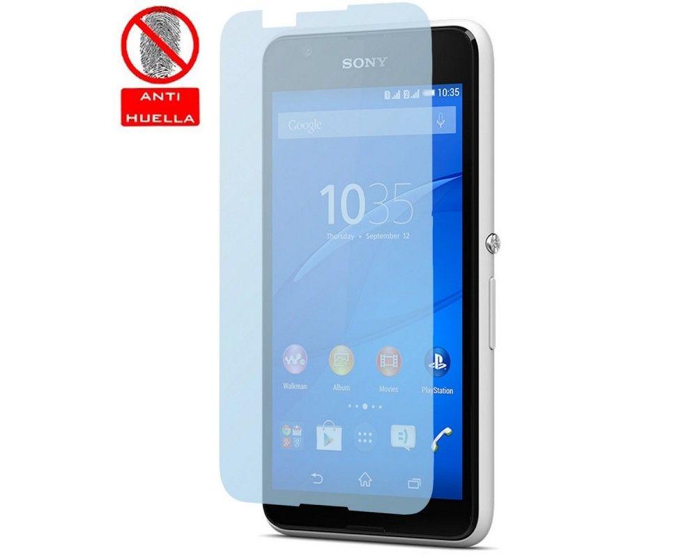 3x Protector Pantalla Mate Antihuellas (Anti-Glare) para Sony Xperia E4