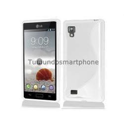 Funda Gel Tpu Lg Optimus L9 P760 S Line Color Blanca