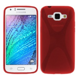 Funda Gel Tpu Samsung Galaxy J1 J100H X-Line Color Roja