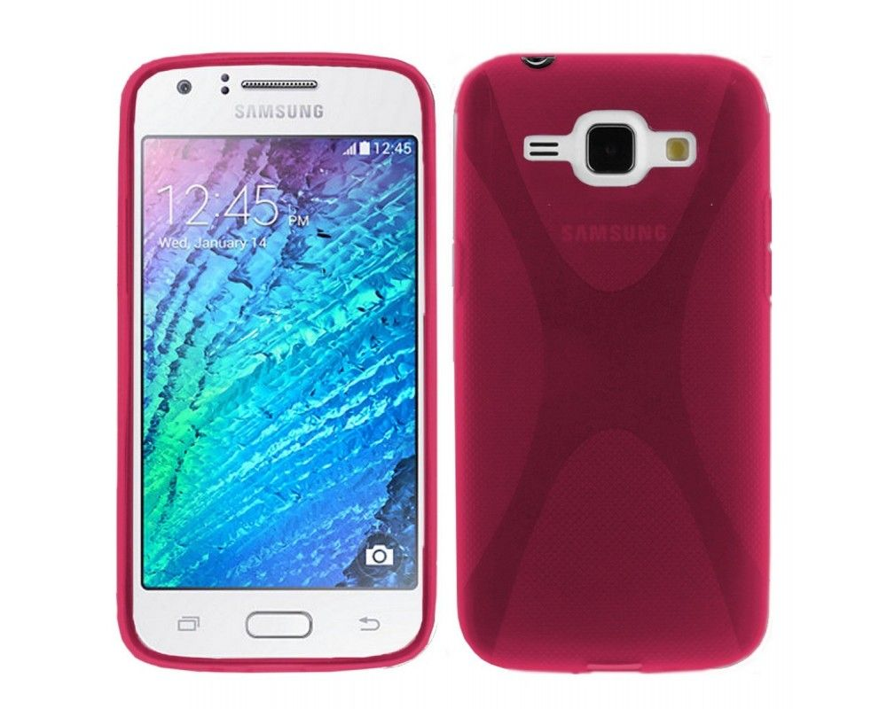 Funda Gel Tpu Samsung Galaxy J1 J100H X-Line Color Rosa