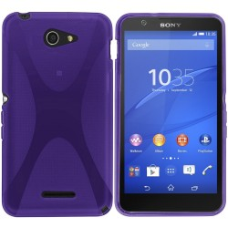 Funda Gel Tpu Sony Xperia E4 X-Line Color Morada