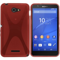 Funda Gel Tpu Sony Xperia E4 X-Line Color Roja