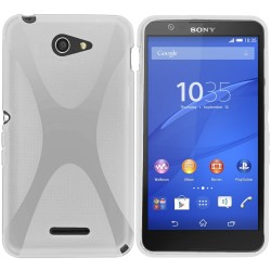 Funda Gel Tpu Sony Xperia E4 X-Line Color Blanca