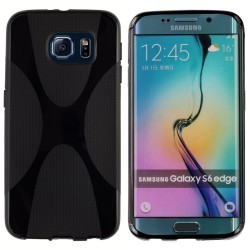 Funda Gel Tpu Samsung Galaxy S6 Edge G925F X Line Color Negra