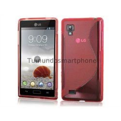 Funda Gel Tpu Lg Optimus L9 P760 S Line Color Roja
