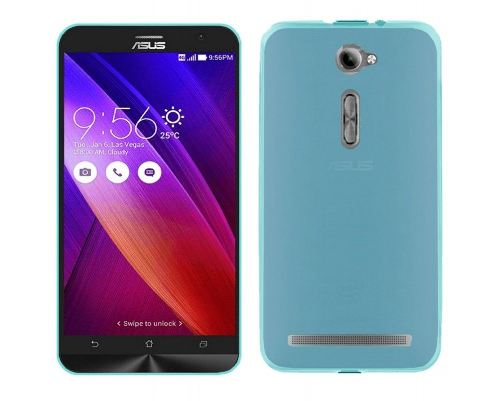 "Funda Gel Tpu  Asus Zenfone 2 5"" Ze500Cl Color Azul"