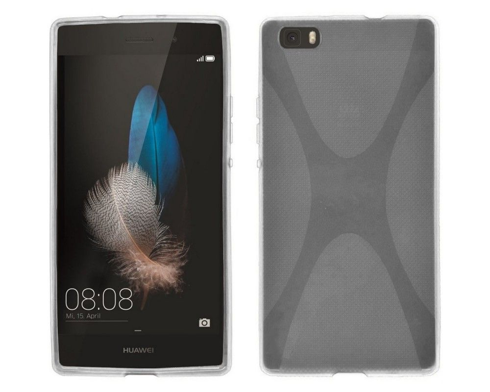 Funda Gel Tpu Huawei P8 Lite X Line Color Transparente