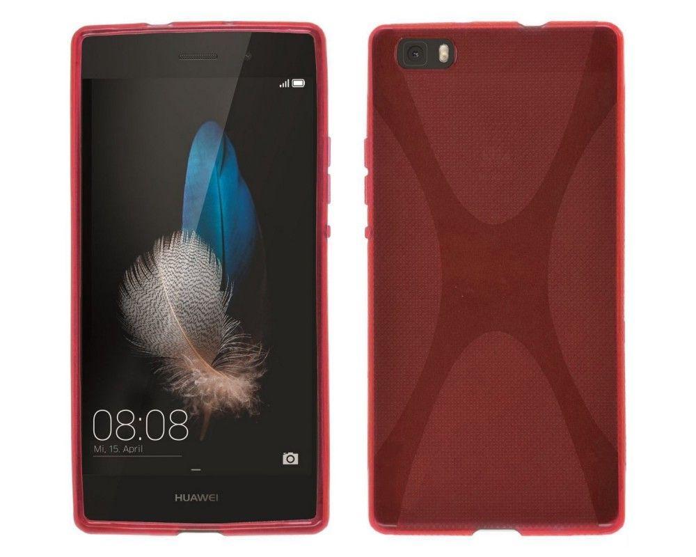 Funda Gel Tpu Huawei P8 Lite X Line Color Roja