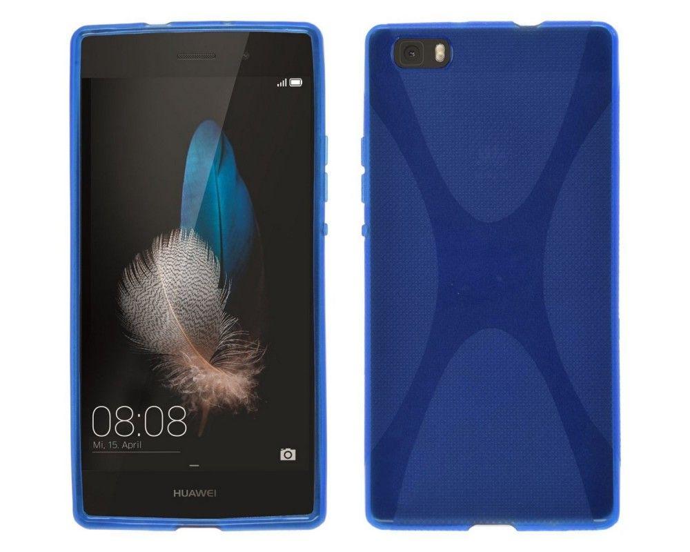 Funda Gel Tpu Huawei P8 Lite X Line Color Azul
