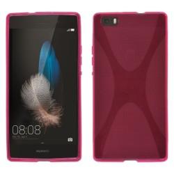 Funda Gel Tpu Huawei P8 Lite X Line Color Rosa
