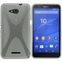 Funda Gel Tpu Sony Xperia E4G X Line Color Transparente