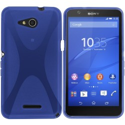 Funda Gel Tpu Sony Xperia E4G X Line Color Azul