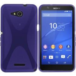 Funda Gel Tpu Sony Xperia E4G X Line Color Morada