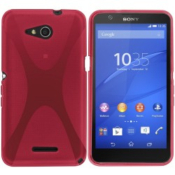 Funda Gel Tpu Sony Xperia E4G X Line Color Rosa