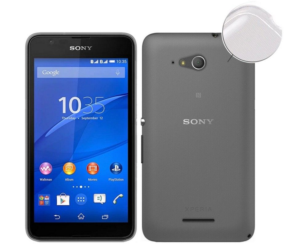 Funda Gel Tpu Fina Ultra-Thin 0,3mm Transparente para Sony Xperia E4G