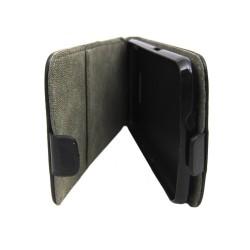 Funda Piel Premium Ultra-Slim Sony Xperia E4G Negra