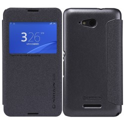 Funda Flip Nillkin Modelo Sparkle para Sony Xperia E4G Color Negra