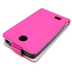 Funda Piel Premium Ultra-Slim Lg Joy H220 Rosa