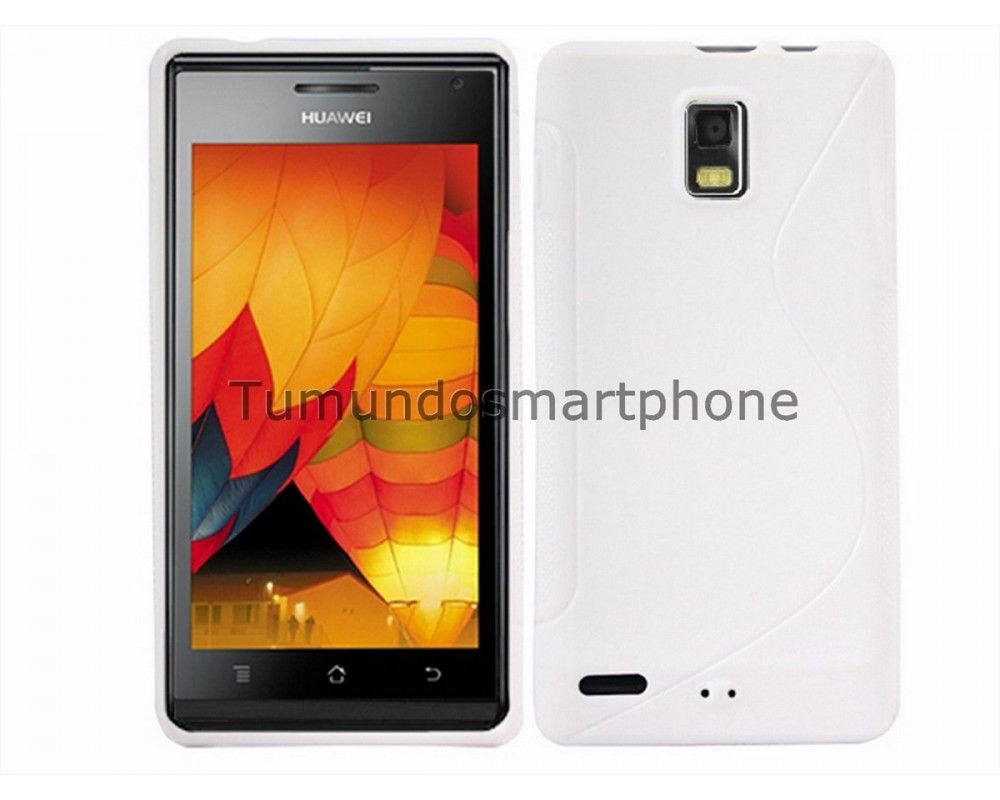 Funda Gel Tpu Huawei Ascend P1 U9200 S Line Color Blanca