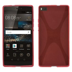 Funda Gel Tpu Huawei P8 X Line Color Roja