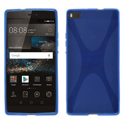 Funda Gel Tpu Huawei P8 X Line Color Azul